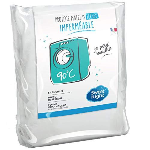 Sweetnight - Protège Matelas Alèse Imperméable et Micro Respirante Souple et Silencieux Lavable à 90°C 160 x 200 cm