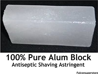 2 x NATURAL ALUM BLOCK 100g AFTER SHAVING BALM **FREE UK POST** BLOC ANTISEPTIC ASTRINGENT WET SHAVING ALUM by Falconsuperstore