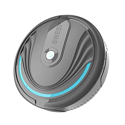 N/D Home Automatic Robot Vacuum Cleaner, Intelligent Sweeping Robot Floor Dust Cleaner Mop High Suction Quiet USB Charging Sensor Protection Sweeper for Pet Hair, Hard Floor, Carpets