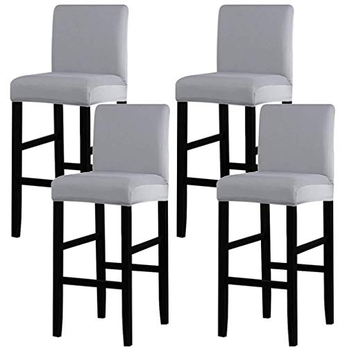 YEDMY 4 Piezas Taburetes de Bar Fundas para sillas con Respa