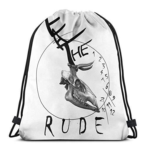 XCNGG Dwell On Dreams Waterproof Foldable Sport Sackpack Gym Bag Sack Drawstring Backpack