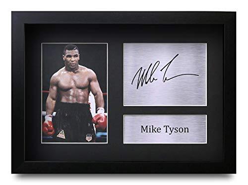 HWC Trading Mike Tyson A4 Gerahmte Signiert Gedruckt Autogramme Bild Druck-Fotoanzeige Geschenk Für Boxfans