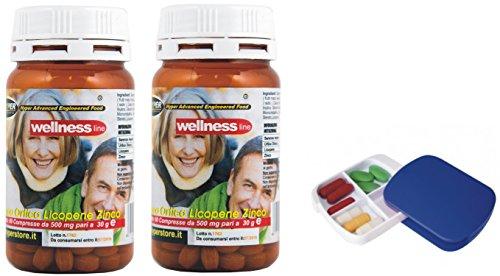 Suplementos Próstata Salud Bienestar + Píldoras 2 BOX X 60 Tabletas Serenoa Saw Palmetto Ortiga Licopeno Ayuda la Función Normal de la Próstatae Trastornos del Tracto Urinario y Mejora la Micción