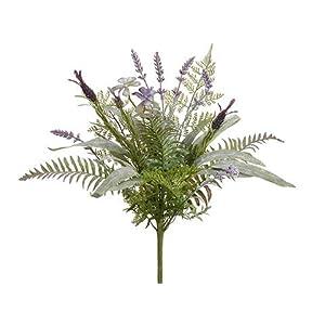 Arcadia Silk Plantation 20″ Lavender/Eucalyptus/Fern Bouquet Lavender Green (Pack of 6)
