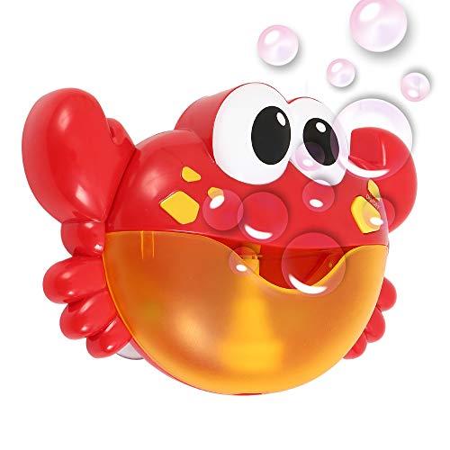 Imagen para Littlegrasseu Máquina Cangrejo de Burbujas con 12 Música Automático Juguetes de Baño Canalón Bañera para Niños Ducha nSpout Bath Bubble Blower