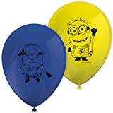 Procos - Balones de látex de 27 cm Lovely Minions, Multicolor, 5PR87185