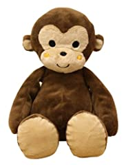 "Curly Tails Plush Monkey Ollie is 8"" high soft and cuddly 2 tone plush Soft stitched eyes and mouth Care instructions: machine wash in gentle cycle, tumble dry low and remove promptly Curly Tails Plush Monkey Ollie is 8"" high soft and cuddly 2 tone p..."