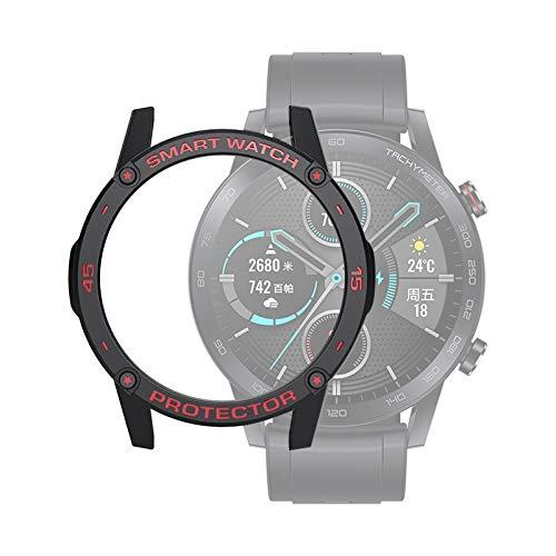zhangxia caso del reloj para Huawei Honor Magic 2 46mm Smart Watch TPU Funda protectora, Color: Negro+Rojo