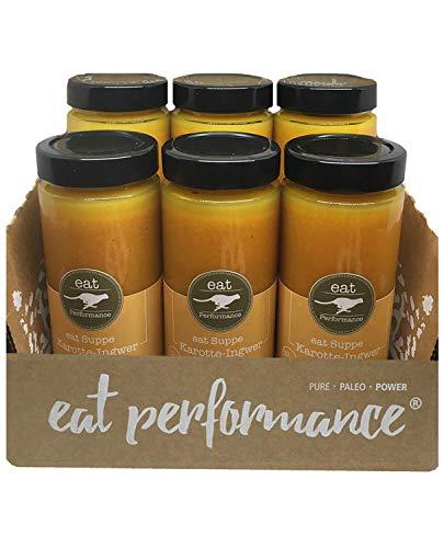 eat Performance® Karotte Ingwer Orange Suppe (6x 350ml) - Bio, Paleo, Frisch Gekocht Aus 100% Natürlichen Zutaten