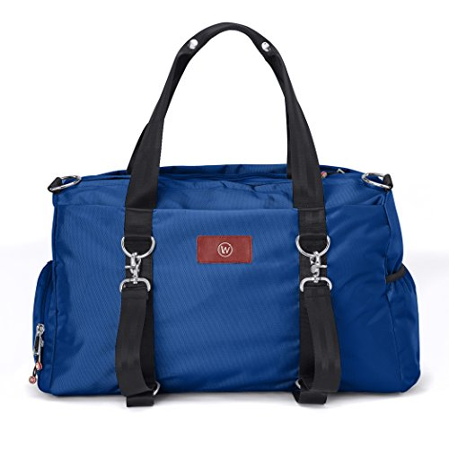 Live Well 360 Best Gym Duffel Bag for Men or Women – Bag with Shoe, Laptop & Wet Compartment - Perfect Sports or Workout Shoulder Bag with Multiple Compartments The LUXX (Royal Blue)