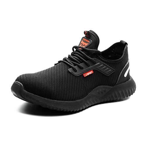 jincan Zapatos de Seguridad para Hombre Zapatillas con Punta de Acero Zapatos de Trabajo Ligeros Zapatillas industriales Transpirables para Mujer - JI03