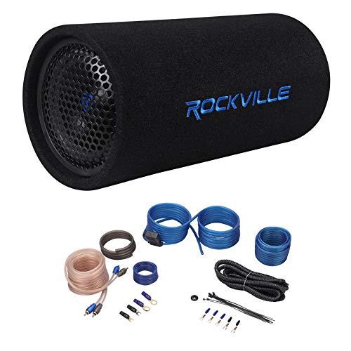 Rockville RTB65A 6.5  300 Watt Powered Subwoofer MP3 Input + Amp Kit