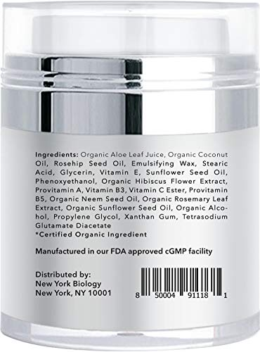 41ZmwBO nQL - Eye Cream Moisturizer for Dark Circles, Fine Lines, Puffiness and Wrinkles Under the Eyes – Intensive Anti Aging Formula with Provitamin A and B5, Vitamin C and E – 1.7 fl oz (50ml)