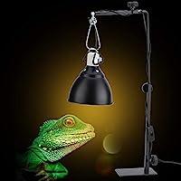ランディングランプスタンド、防錆ランディングランプブラケット、固定ワイヤーケーシング付き亀のクモノスガメの家庭用ペット爬虫類用に高さと幅を調整可能