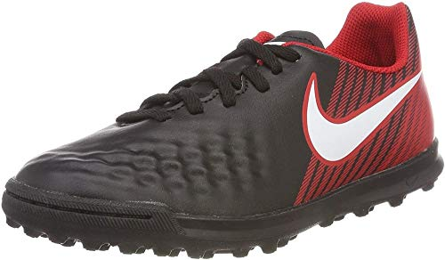 Nike Unisex-Kinder JR Magistax Ola II TF Fußballschuhe, Mehrfarbig (Black/University Red/Bright Crimson/White 061), 37.5 EU