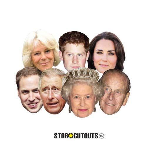 Royal Family - Seven Pack Assorted Masks (máscara/ careta) , Modelos/colores Surtidos, 1 Unidad