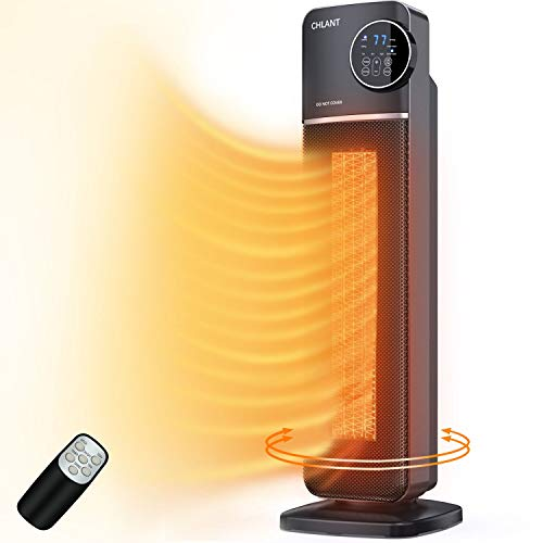 CHLANT Space Heater,1500W Fast Heating PTC Ceramic Tower Heater,Portable Electric Heater,Indoor...