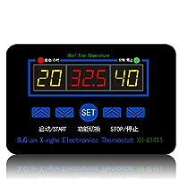 車両付属品 XH-W1411 DC 12VデジタルLCD温度調節器サーモスタットKontrol Schalterセンサー-55〜120度摂氏