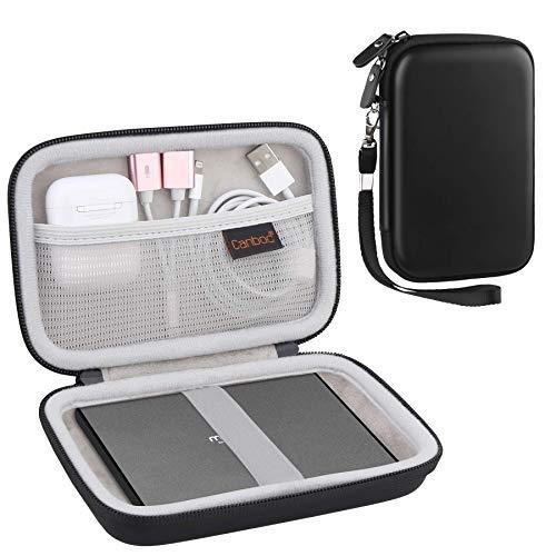 Canboc Hartschalen-Tragetasche für Maxone 250 GB 320 500 1 TB 2 Ultra Slim Portable Externe Festplatte HDD USB 3.0, Netztasche Dongle, Flash-Laufwerke, USB-Kabel, SD-Karte, Schwarz