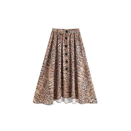 Falda plisada para mujer, diseño de serpiente, estampado de animales, informal, salvaje