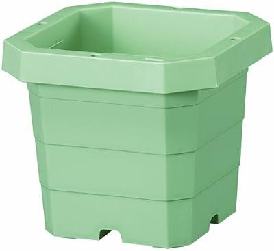 大和プラスチック つる鉢(角型) 6号 φ180×H160 グリーン