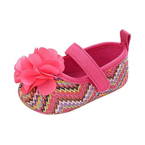 JERFER Neugeborenes Säugling Baby Mädchen Blume Ethnisch Wind Drucken Schuh Sanft Zuerst Gehen Schuhe A437