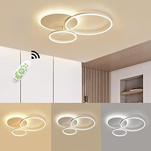 Plafoniera LED, 54W 5400lm Moderna Alluminio Della Lampada da Soffitto, Dimmerabili con Telecomando,...