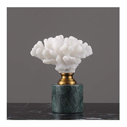 NYKK Ornamento de Escritorio Casa Muebles de Lujo Hotel Soft Muebles y Accesorios de luz mobiliario de Lujo, mármol Coral, una Variedad de Opciones artesanías decoración (Color : C, tamaño : Small)