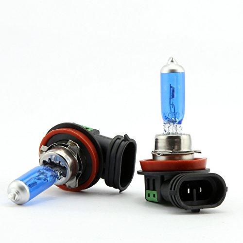 Ampoule de Phare H11 100W Ampoule Halogène Super Feux de Route Voiture Lampe de Brouillard 12V Xénon Lumière Blanche