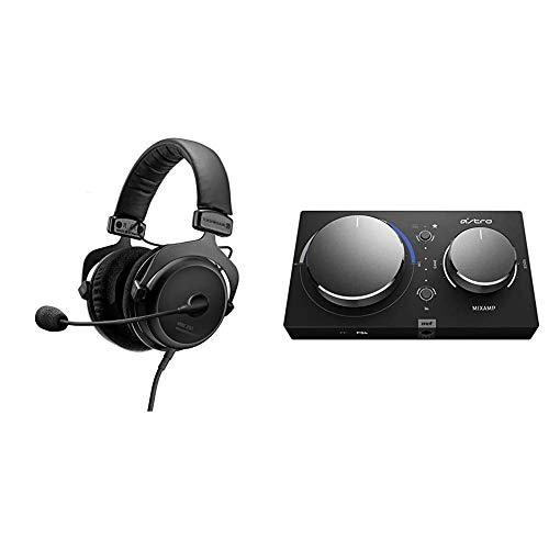beyerdynamic MMX 300 Premium geschlossener Over-Ear Gaming-Headset (2nd Generation) mit Mikrofon & Astro Gaming MixAmp Pro TR, Gaming-Headset Adapter, Gen 4, Dolby Audio - Schwarz/Blau
