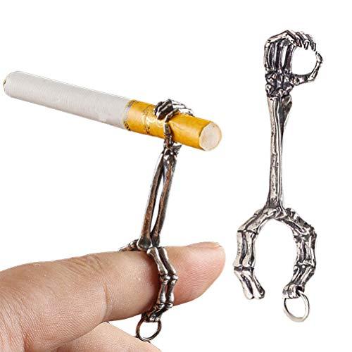 Stecto Fumador de Anillo de Fuma, Metal Anillo para Cigarrillos, Anillo Elegante Grueso del Tenedor del Cigarrillo del Humo de 8m m para los Hombres y Las Mujeres