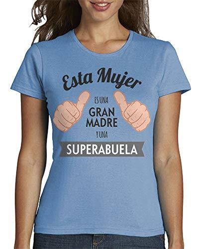 latostadora - Camiseta Gran Madre y para Mujer Azul Cielo L
