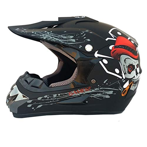 Qianliuk 125 Men ' s Motorcycle Moto Casco off-Road Full Face Moto cap caSchi Motocross Casco Fornitura Specchio Guanto Cranio 54-59cm