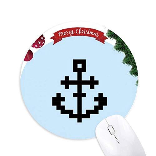 Sommer Segelschiffe Schiff Pixel Rund Gummi Maus Pad Weihnachtsbaum Mat