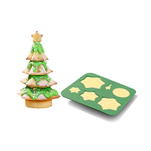 Christmas Silicone Baking Mold, DIY Multi Layered 3D Christmas Tree Cake Chocolate Baking Mold,for Xmas New Year Cake Decoration