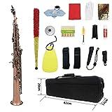 Sopran-Saxophon Holzblasinstrument bBC gerade Tube Retro Rot Kupfer Hochwertiges Rot