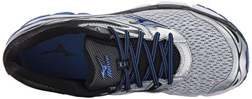 Mizuno Wave Inspire 13 Chaussure de course pour homme, Bleu (Bleu/argenté), 43.5 EU