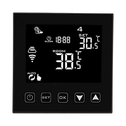 Oumefar Termostato Digital Termostato Material ABS Operación táctil Termostato de calefacción eléctrico Controlador de Temperatura de Alta confiabilidad para el hogar