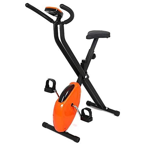 N\A Spinning Plegable Bicicleta bicis Inicio aeróbicos Entrenamiento Deportivo con bajo Nivel de Ruido Sistema de transmisión por Correa, Pantallas LCD, Altura Ajustable del Manillar y Asiento