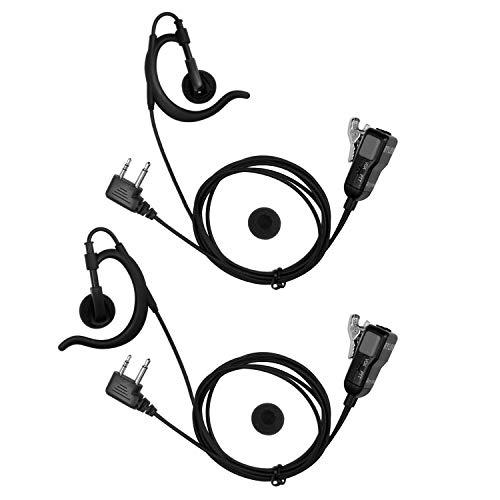 Two Way Radio Earpiece Compatible Midland Ear-Clip Headset for Midland Walkie Talkie Earpiece(2 Packs)