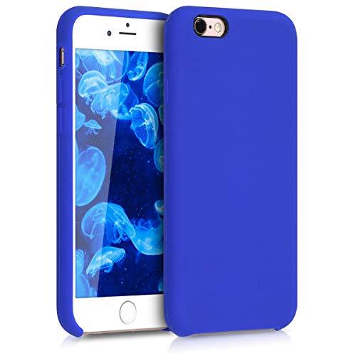 kwmobile Cover per Apple iPhone 6 / 6S - Cover Custodia in Silicone TPU - Back Case Protezione Cellulare Blu Elettrico