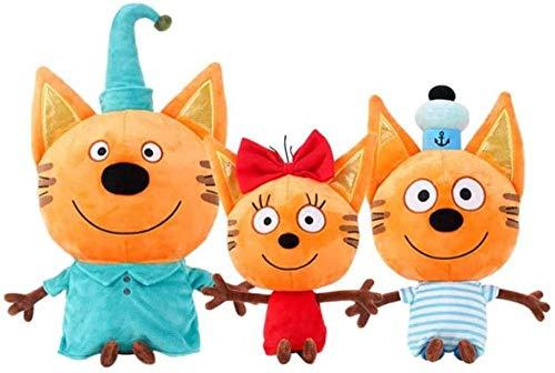 N/D Gato Ruso Tres Gatitos Juguetes de Peluche Juguete de Felpa Gato Feliz Figura de acción Juguetes Regalos para niños