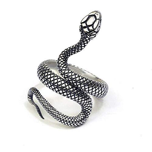 Wicemoon Schlange Modellierung Ringe Öffnung Einstellbar Finger Ring Schmuck Schlangenring Herren- und Damenringe