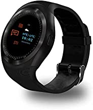 GIMTVTION Y1 Plus Bluetooth Smart Watch,Unlocked Watch Cell Phone with GSM 2G Sim Card Slot,Heart Rate Monitor,Passometer Blood Pressure Monitor,Waterproof Smartwatch Phone for Adult Kids (Black)