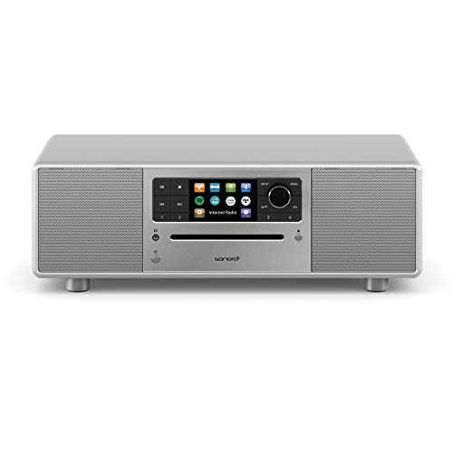 sonoro Prestige Kompaktanlage mit CD-Player, Bluetooth und Internetradio (UKW/FM, WLAN, DAB Plus, Spotify, Amazon, Deezer, Tidal, USB) Silber 2020