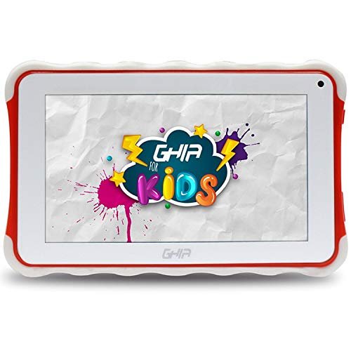 GHIA Tablet Kids 7 Toddler GTAB718R / Quad Core / 1GB de RAM / 8GB de Almacenamiento / 2 Cámaras/WiFi/Bluetooth/Android 8.1 GO Edition/Color Roja