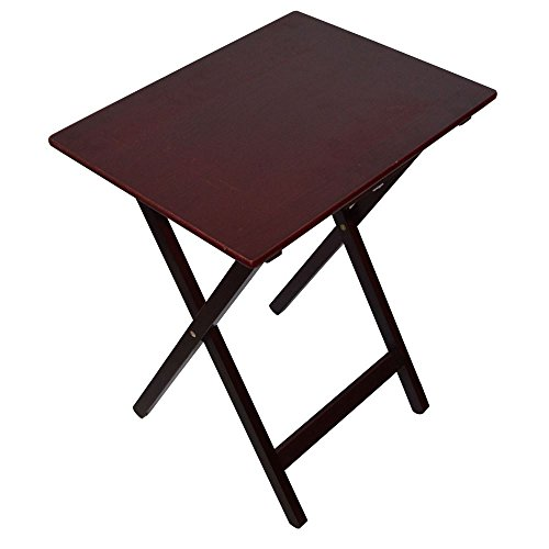 Home Discount Folding Wooden TV Dinner Laptop Snack Table, Mahogany