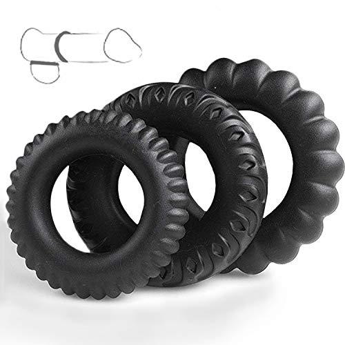 3 Anillos de neumáticos pequeños de Diferentes tamaños, elásticos