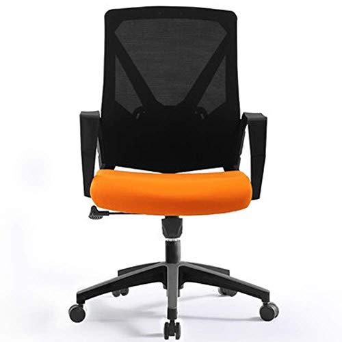 Büro- und Heimstuhl Pc Gaming Seat, Esports Spiel Fahrstuhl Rückenhandlauf Studie Computer-Komfortabler Bürodrehstuhl for Spiel Erholung, Rot, (Color : Orange)