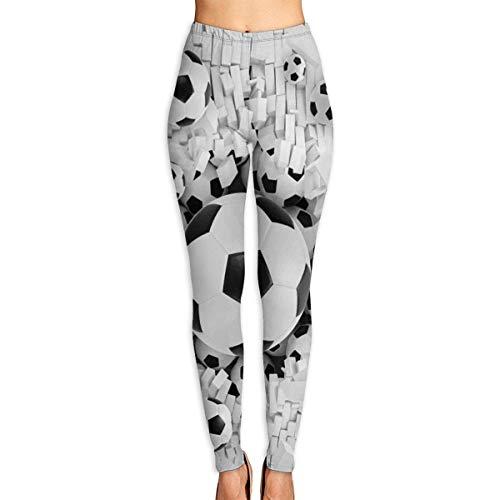 JJsister Frauen Fußball Bedruckte Leggings Yoga-Workout-Leggings in voller Länge Hosen Weiche Capri